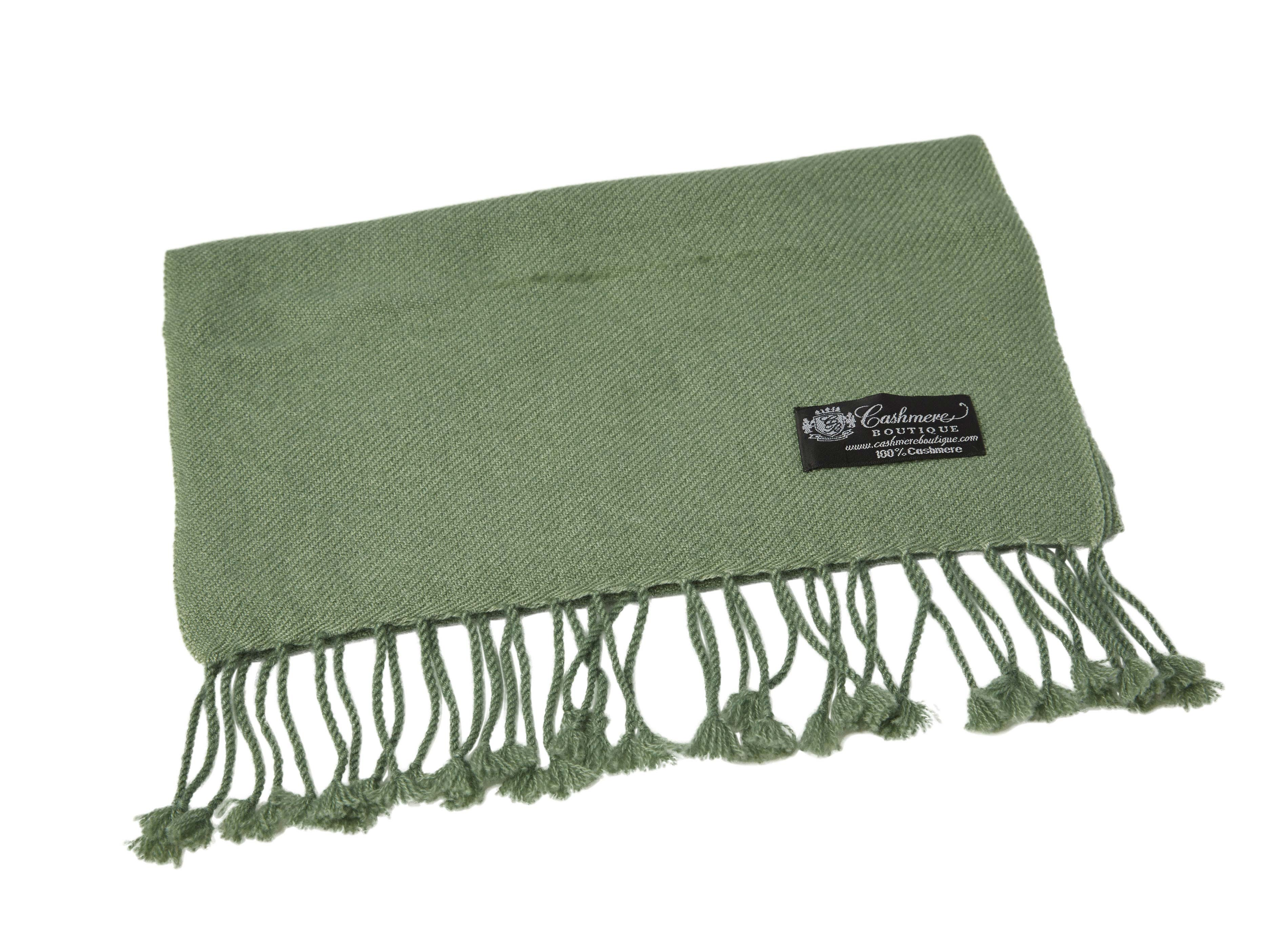 Pure_Cashmere_Scarf_with_Tassels_Sage_Green