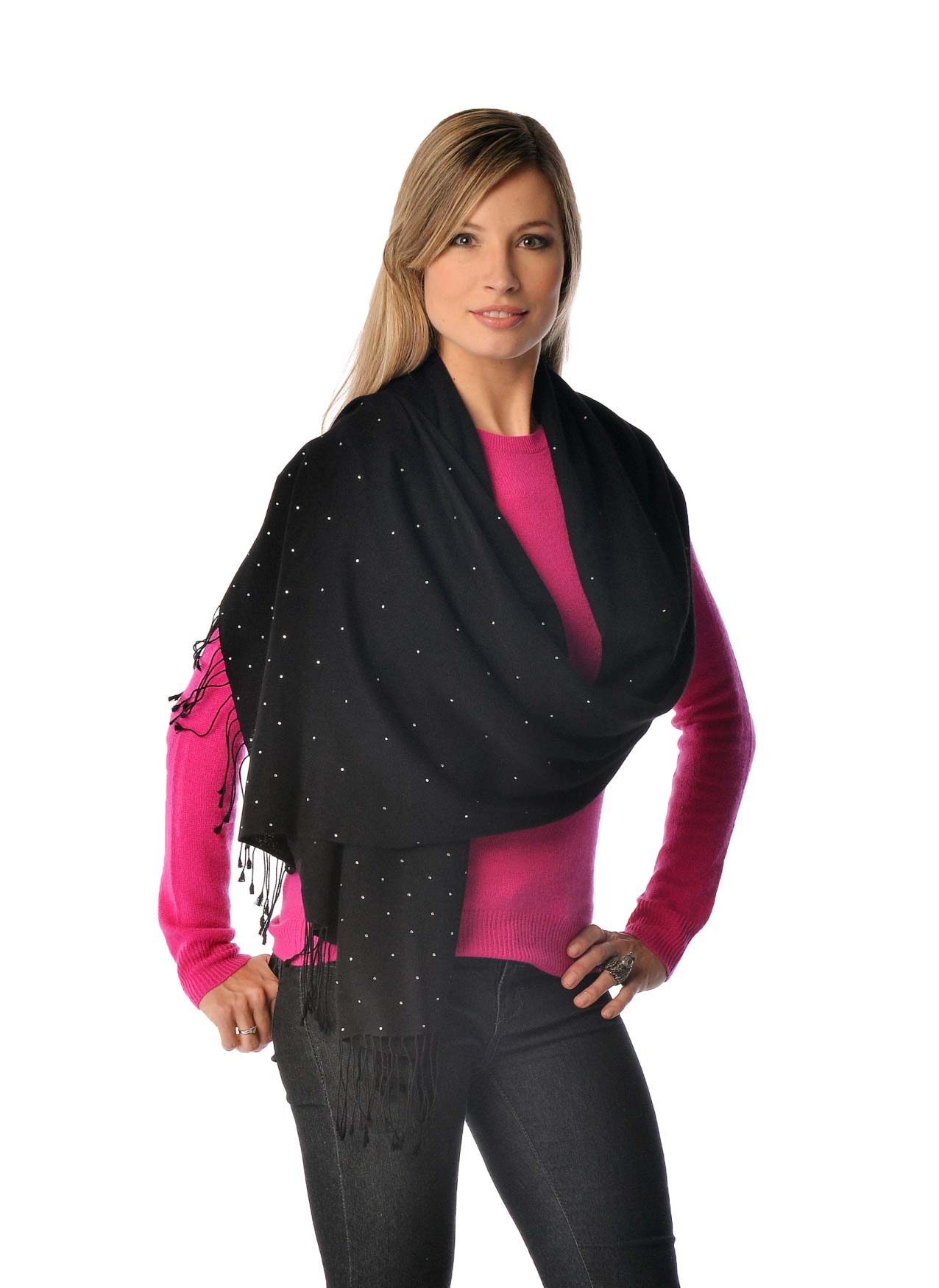 Pashmina Shawl with Swarovski Beadwork - Galaxy