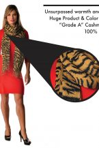 Cashmere Wrap in Tiger Print