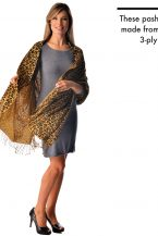 Cashmere Wrap in Animal Prints - Leopard