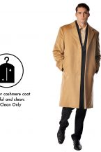 Men's Knee Length Topcoat in Pure Cashmere
