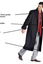 Men's Full Length Topcoat in Pure Cashmere