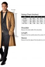 Men's Double Breasted Topcoat in Pure Cashmere