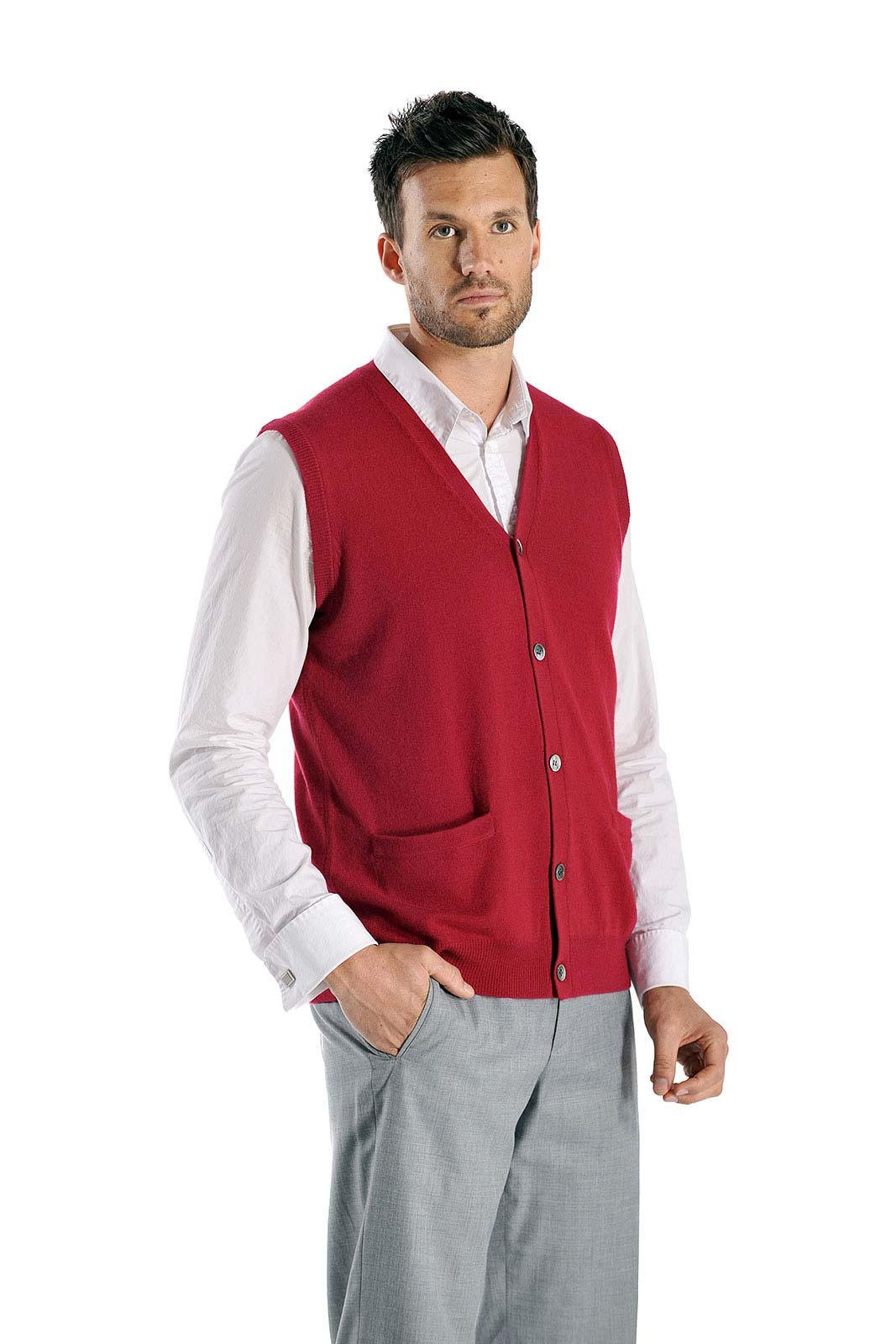 Think cotton shawl–collar cardigans, nautical–stripe sweaters, short–sleeve sweater–polos, slim cotton–cashmere zip–up sweater–jackets and V–neck sweaters. They're just the thing for chilly nights (and overly air-conditioned offices).