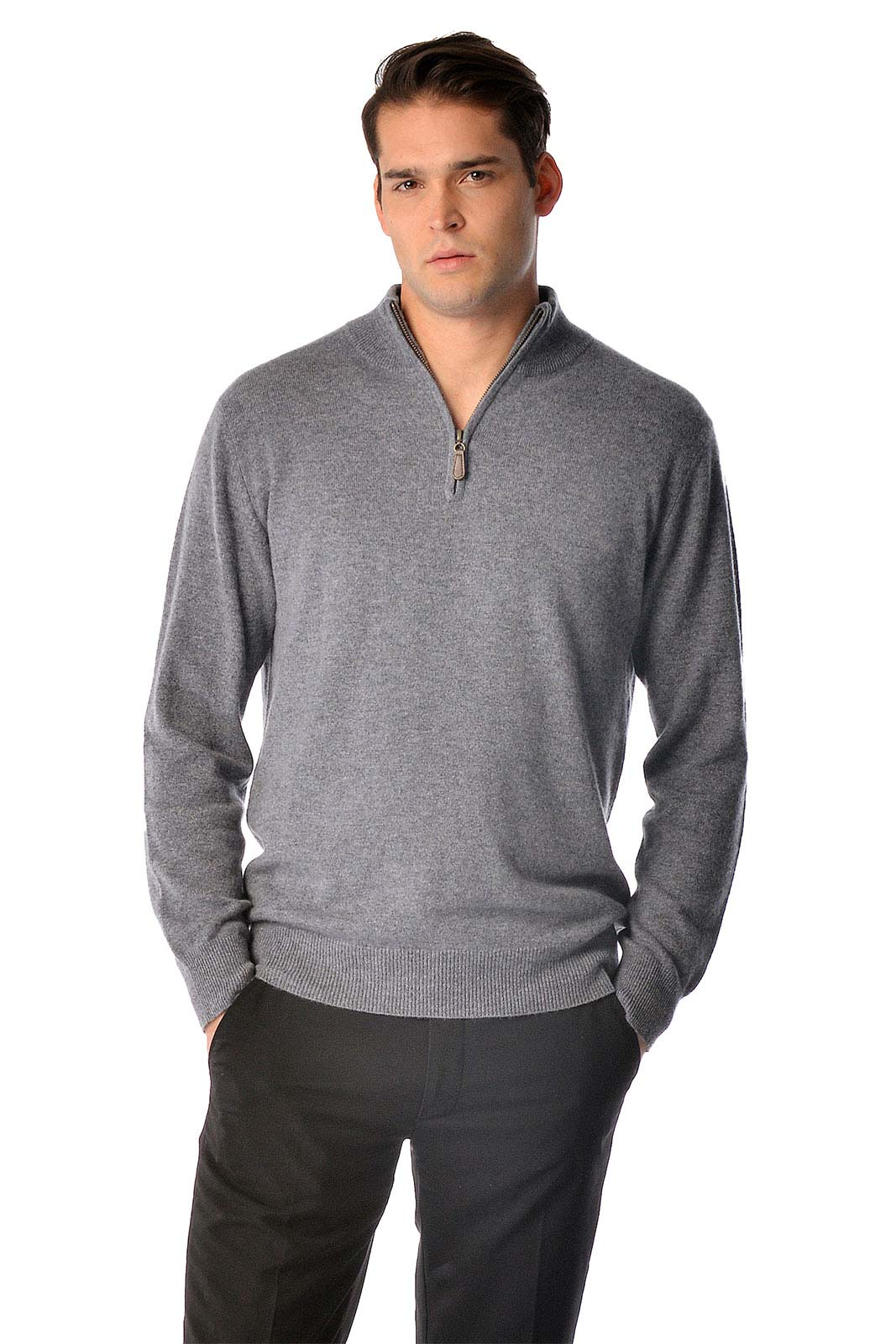 This is a pure cashmere half zip sweater for men. Luxurious soft and really warm our sweaters are made from the finest grade of cashmere. These sweaters are made from A-Grade 3 ply pure cashmere yarn and offer unsurpassed warmth and softness.