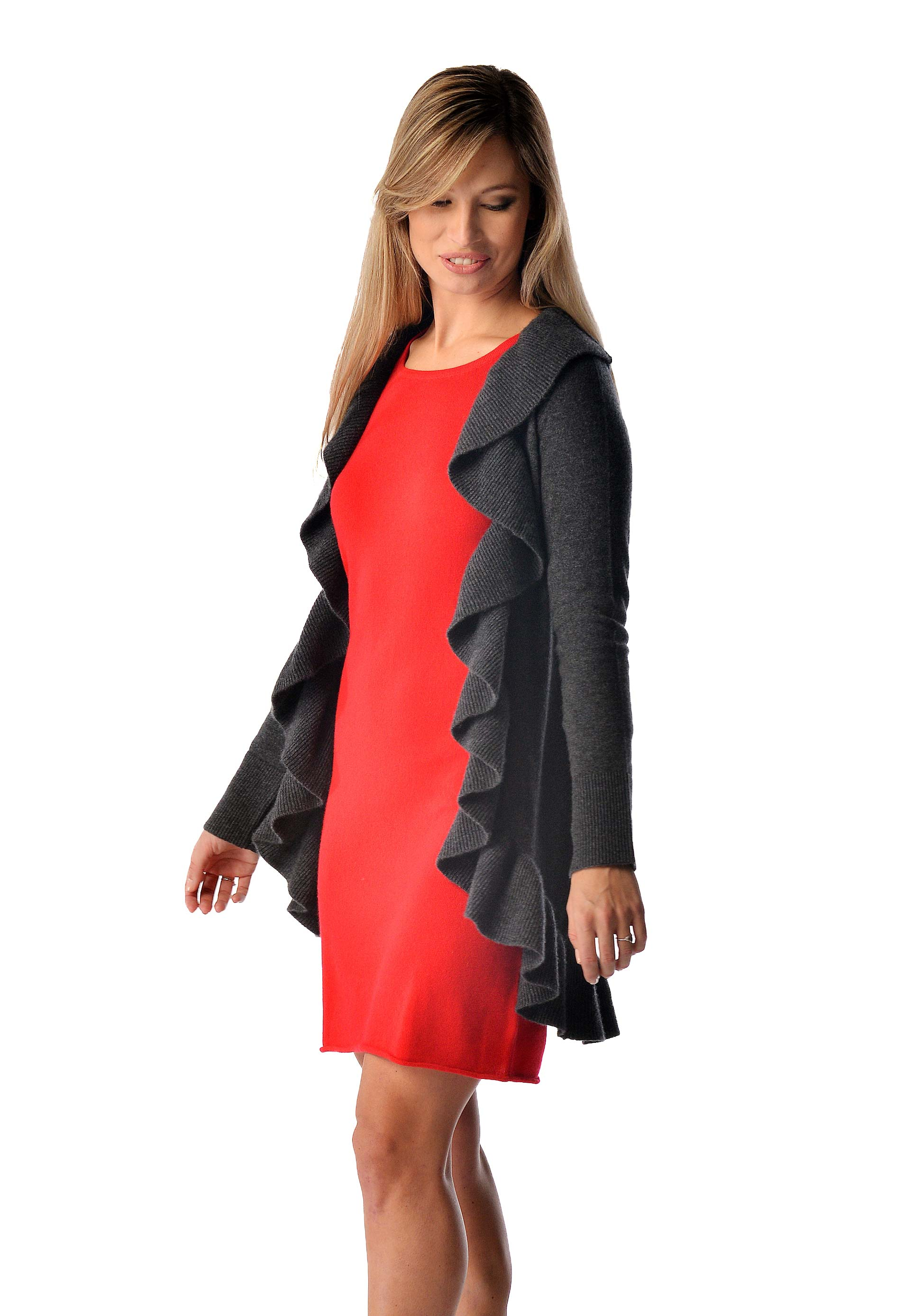 Women's Pure Cashmere Falbala Sweater