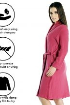 Women's Short Robe in Pure Cashmere