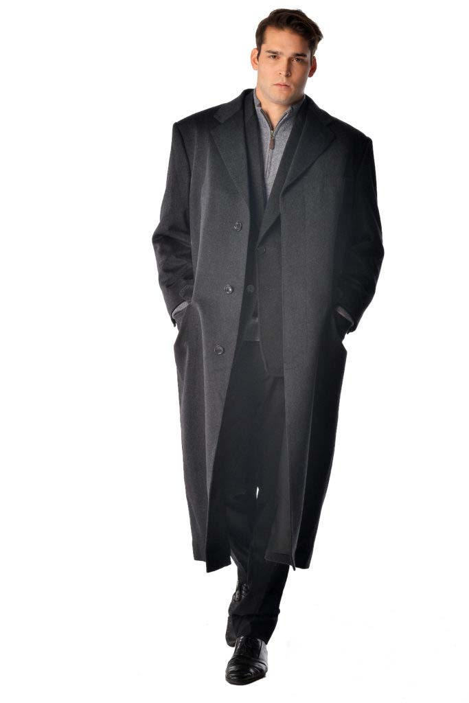 Men S Full Length Overcoat In Pure Cashmere Cashmere