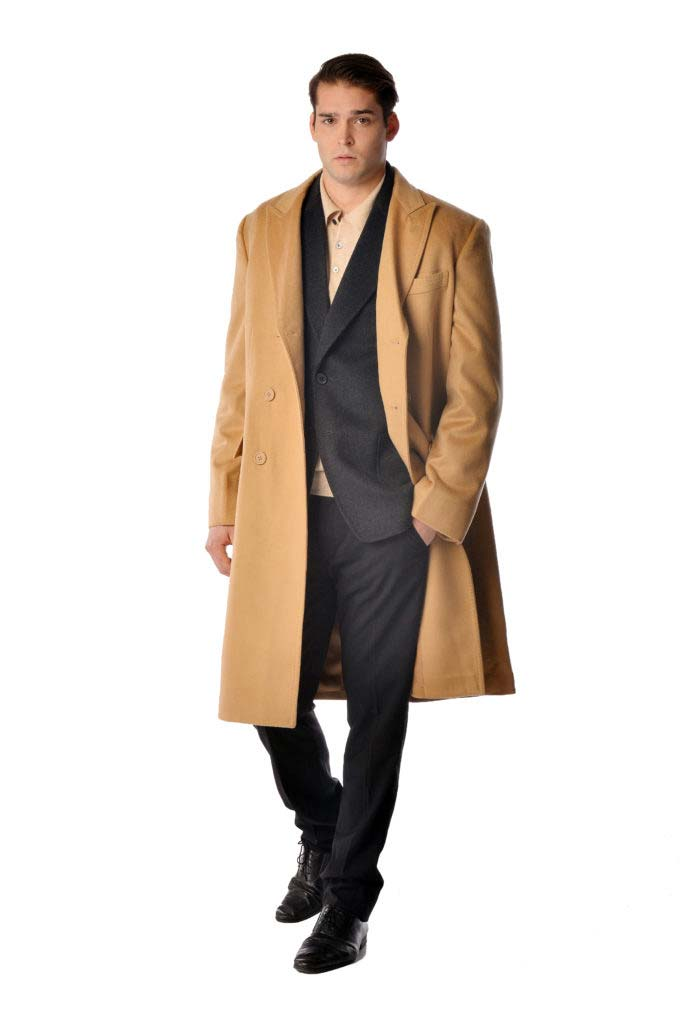 Men S Double Breasted Overcoat In Pure Cashmere Cashmere