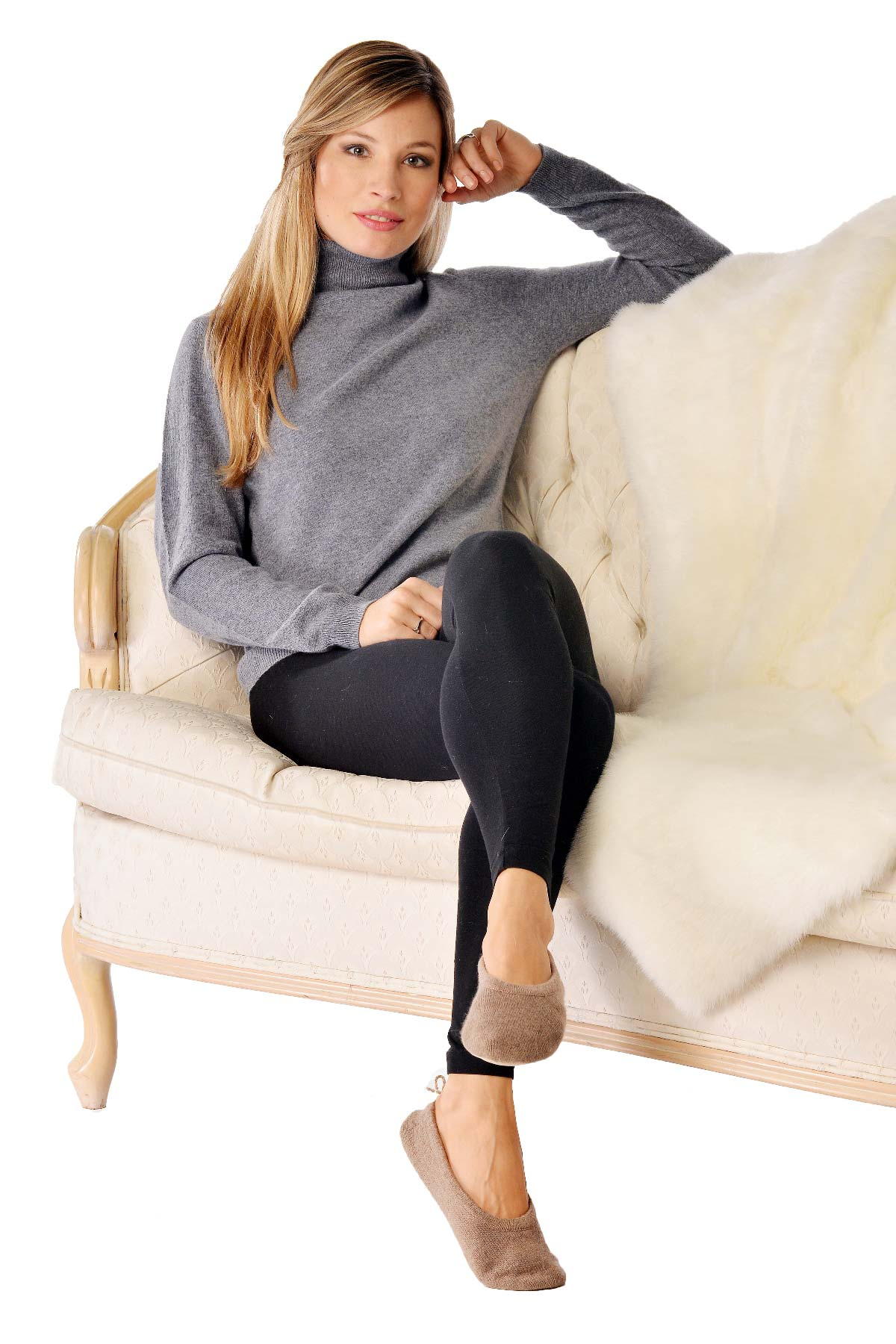 Pure Cashmere Closed Style Slippers