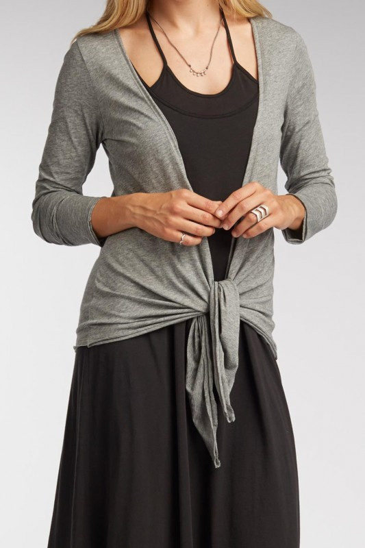 women's pure cashmere cardigan with tie