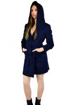 Pure Cashmere Hooded Coat for Women