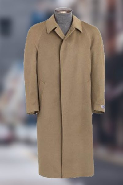 Men S Full Length Topcoat In Pure Cashmere Cashmere Boutique