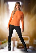 Pure Cashmere Crew Neck Spring Sweater for Women